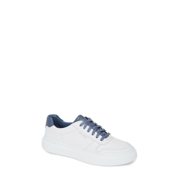 コールハーン レディース スニーカー シューズ GrandPro Rally Sneaker Optic White/ Blue Leather