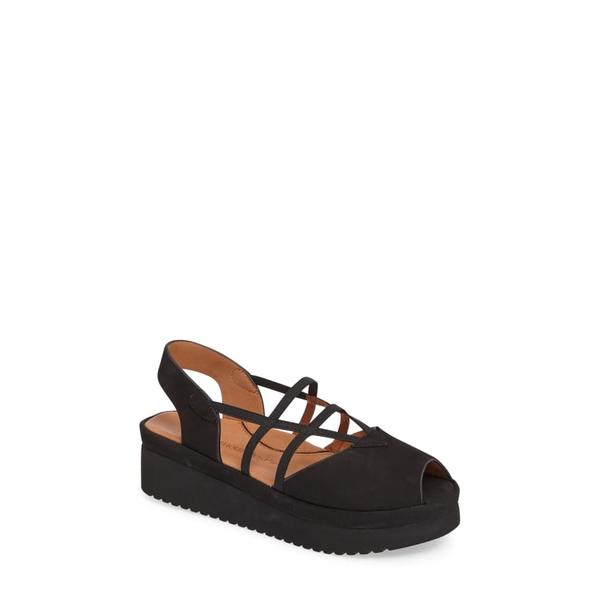 ラモールドピード レディース サンダル シューズ Adelais Platform Wedge Sandal Black Nubuck Leather