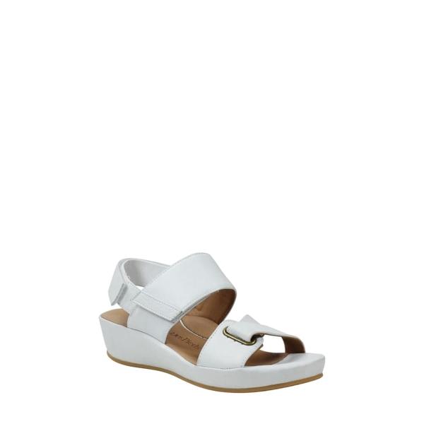 ラモールドピード レディース サンダル シューズ Calantha Wedge Sandal White Leather