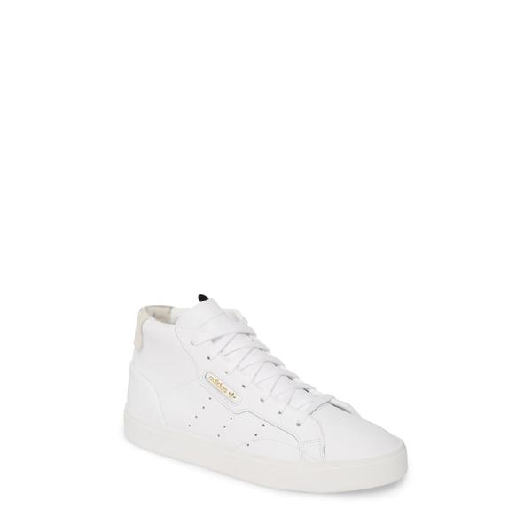 アディダス レディース スニーカー シューズ Sleek Mid Sneaker White/ White/ Crystal White