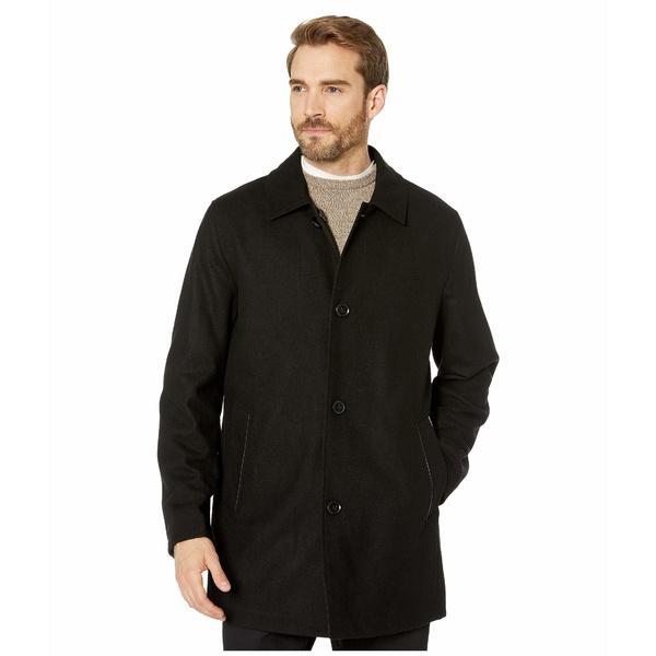 コールハーン メンズ コート アウター Reversible Wool Jacket and Water Repellent Raincoat Black