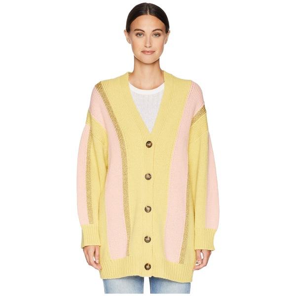 エム ミッソーニ レディース ニット&セーター アウター Stripe Lurex Cardigan Jacket Yellow