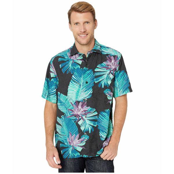 トッミーバハマ メンズ シャツ トップス Blooming Palms Black