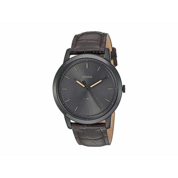 フォッシル メンズ 腕時計 アクセサリー Minimalist - FS5573 Black/Brown Croco