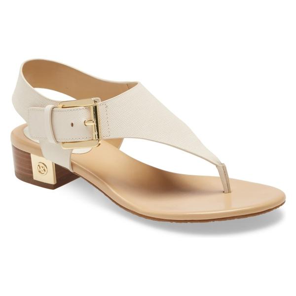 マイケルコース レディース サンダル シューズ MICHAEL Michael Kors London Sandal (Women) Light Cream Leather
