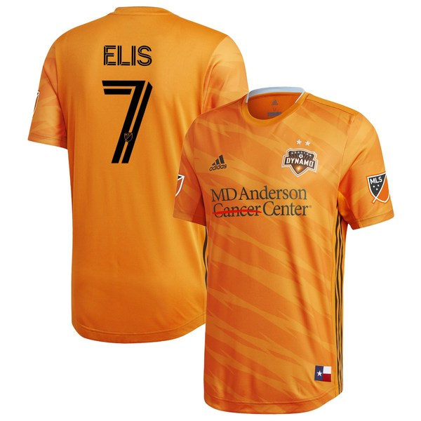 アディダス メンズ ユニフォーム トップス Alberth Elis Houston Dynamo adidas 2020 Primary Authentic Player Jersey Orange