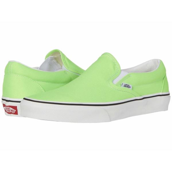 バンズ メンズ スニーカー シューズ Classic Slip-On (Neon) Green Gecko/True White