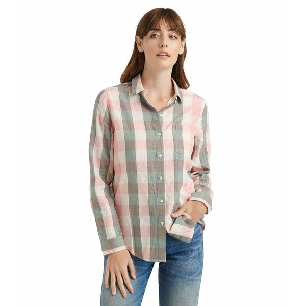 ラッキーブランド レディース シャツ トップス Long Sleeve Button-Up Classic One-Pocket Shirt Olive Multi