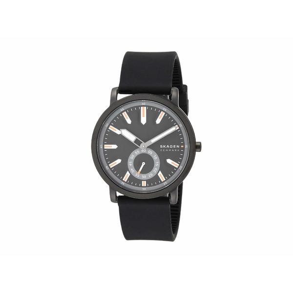 スカーゲン メンズ 腕時計 アクセサリー Colden Three-Hand Mesh Watch SKW6612 Black Silicone