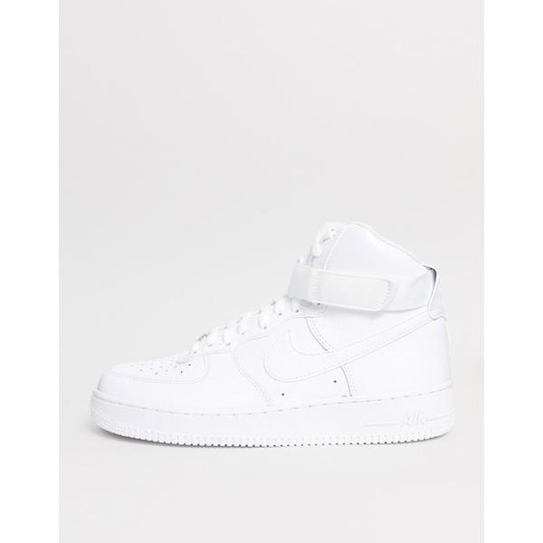 ナイキ メンズ スニーカー シューズ Nike Air Force 1 High '07 Sneakers In White White