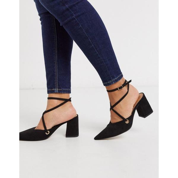 エイソス レディース ヒール シューズ ASOS DESIGN Seeker pointed mid heels in black Black