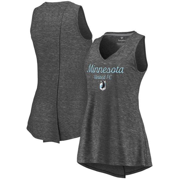 ファナティクス レディース Tシャツ トップス Minnesota United FC Fanatics Branded Women's Premier Obvious Style VNeck Tank Top Black
