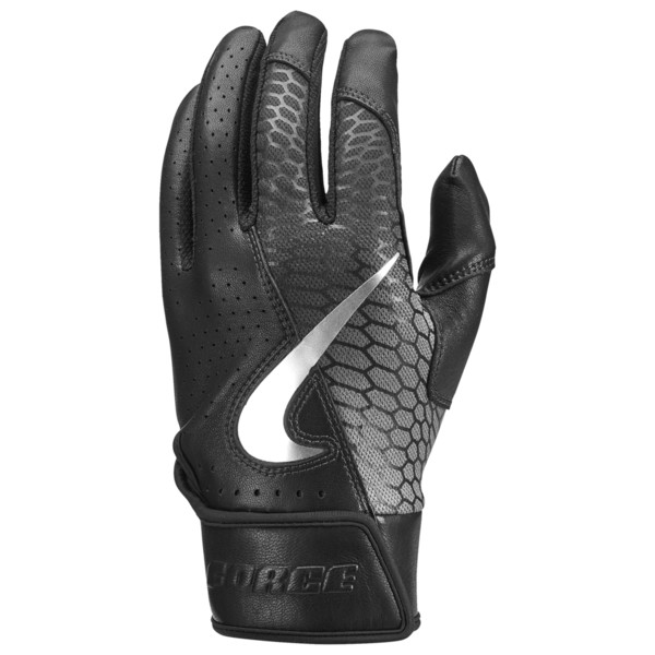 ナイキ メンズ 野球 スポーツ Force Elite Batting Glove Black/Black/White