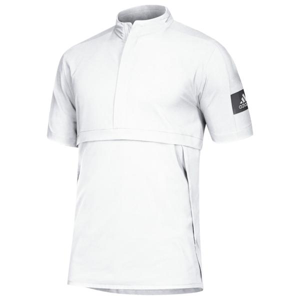 アディダス メンズ ジャケット&ブルゾン アウター Team Game Mode S/S 1/4 Zip Jacket White/Grey Five
