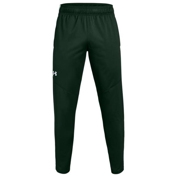 アンダーアーマー メンズ カジュアルパンツ ボトムス Team Rival Knit WarmUp Pants Green/White
