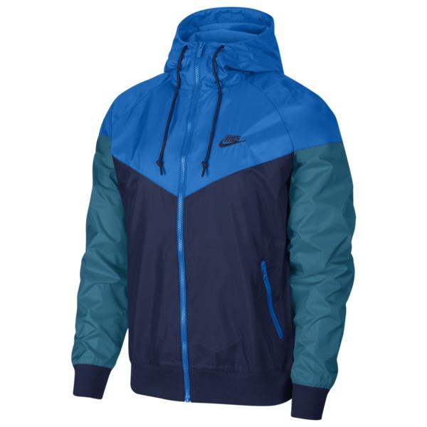 ナイキ メンズ ジャケット&ブルゾン アウター Windrunner Hooded Jacket Midnight Navy/Battle Blue/Geode Teal