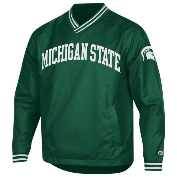 チャンピオン メンズ ジャケット&ブルゾン アウター College Scout Pullover Jacket NCAA | Michigan State Spartans | Dark Green/White