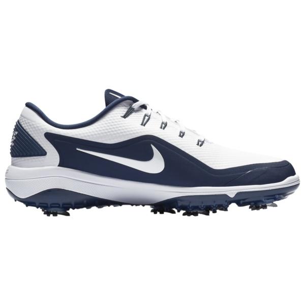 ナイキ メンズ ゴルフ スポーツ React Vapor 2 Golf Shoes White/Metallic White/Midnight Navy