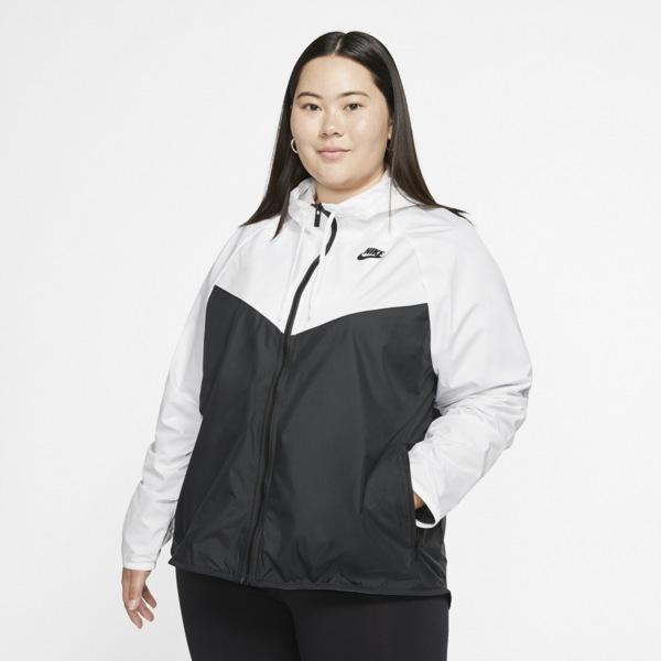 ナイキ レディース ジャケット&ブルゾン アウター Plus Size Windrunner Jacket White/Black   Plus Size