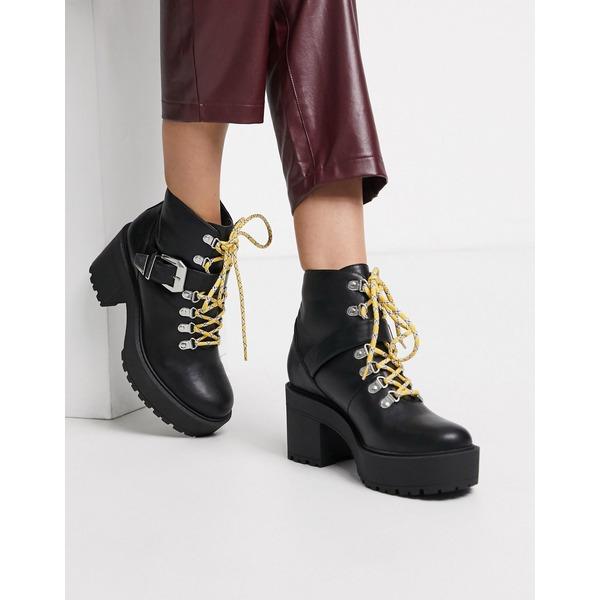 パブリックデザイア レディース ブーツ&レインブーツ シューズ Public Desire Suzie chunky ankle boot in black Black