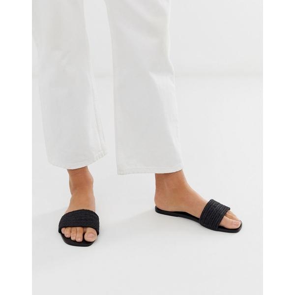 エイソス レディース サンダル シューズ ASOS DESIGN Jayme espadrille sandals Black