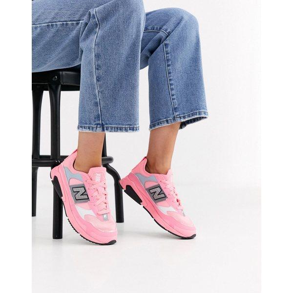 ニューバランス レディース スニーカー シューズ New Balance X-Racer sneakers in bright pink Pink