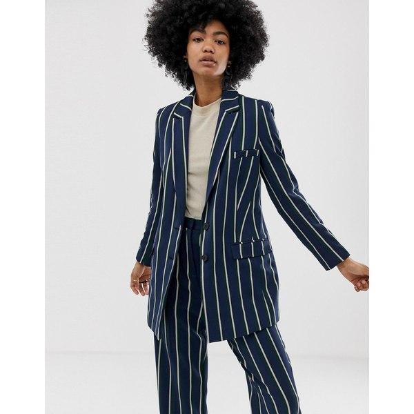 エイソス レディース ジャケット&ブルゾン アウター ASOS DESIGN regatta stripe suit blazer Stripe