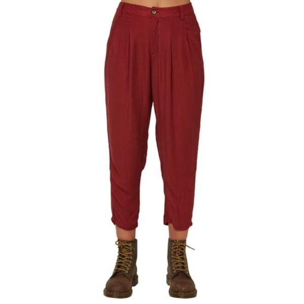 オニール レディース カジュアルパンツ ボトムス Waylon High Waist Woven Crop Pants Ruby