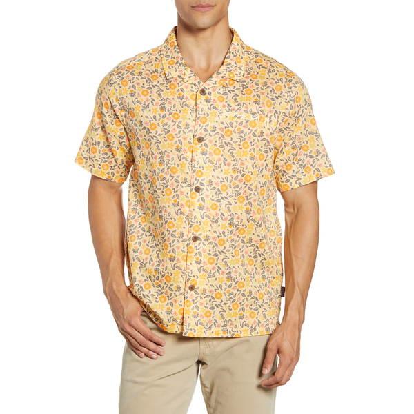 パタゴニア メンズ シャツ トップス Lightweight A/C ョ Regular Fit Print Cotton & Hemp Short Sleeve Shirt Cover Crop/ Vela Peach
