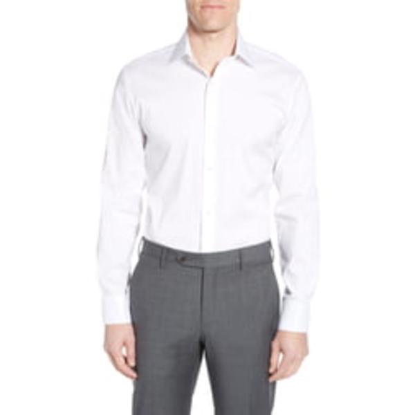 ボノボス メンズ シャツ トップス Slim Fit Stretch Solid Dress Shirt White