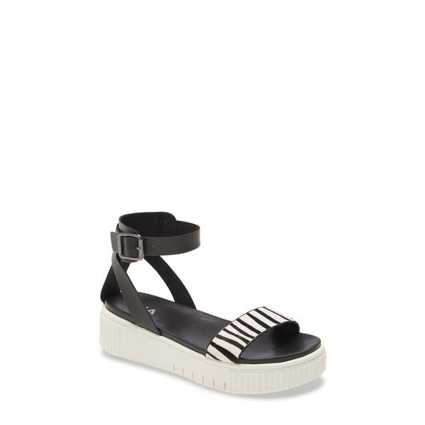 ミア レディース サンダル シューズ Lunna Platform Ankle Strap Sandal Zebra Calf-Hair
