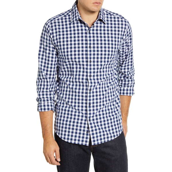 ロッドアンドグン メンズ シャツ トップス Dixon Road Regular Fit Long Sleeve Check Button-Up Shirt Navy