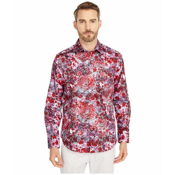 ロバートグラハム メンズ シャツ トップス Blood Rose Button-Up Shirt Red