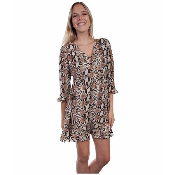 スカーリー レディース ワンピース トップス Scarlett Python Print Dress Brown