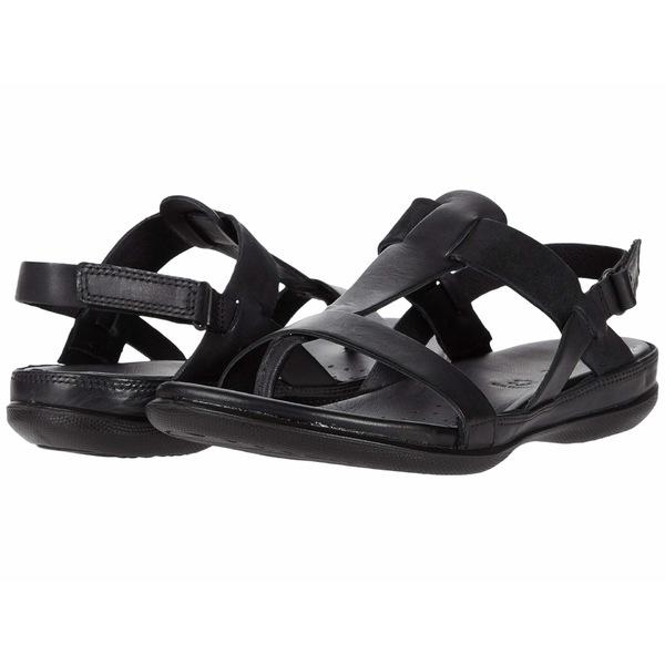 エコー レディース サンダル シューズ Flash T-Strap Sandal Black/Black Cow Leather/Cow Nubuck