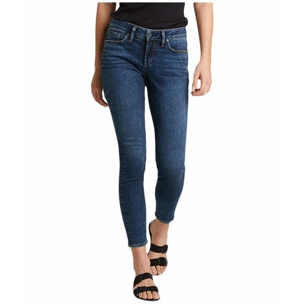 シルバージーンズ レディース デニムパンツ ボトムス Suki Mid-Rise Curvy Fit Skinny Jeans L93136SDB376 Indigo