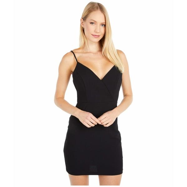 BCBジェネレーション レディース ワンピース トップス Cocktail Surplice Cami Woven Dress - GEF6256834 Black