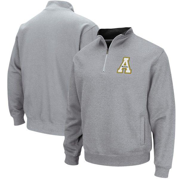コロシアム メンズ ジャケット&ブルゾン アウター Appalachian State Mountaineers Colosseum Tortugas Logo QuarterZip Pullover Jacket Black