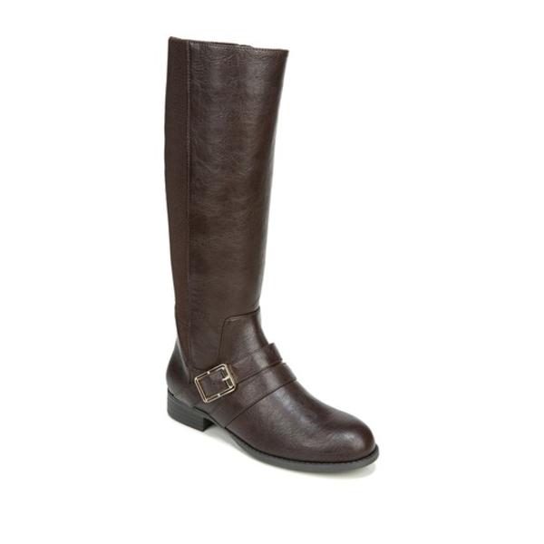 ライフストライド レディース ブーツ&レインブーツ シューズ Filomena Stretch Riding Boot - Wide Width Available DK CHOCOLATE