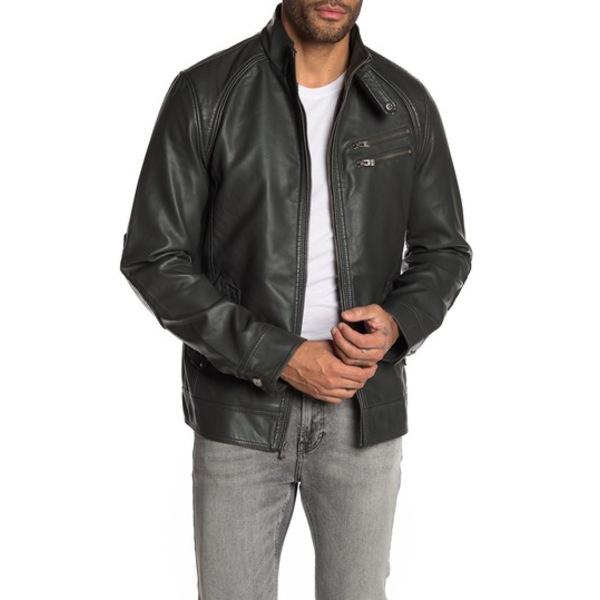 エックスレイ メンズ ジャケット&ブルゾン アウター Faux Leather Jacket OLIVE