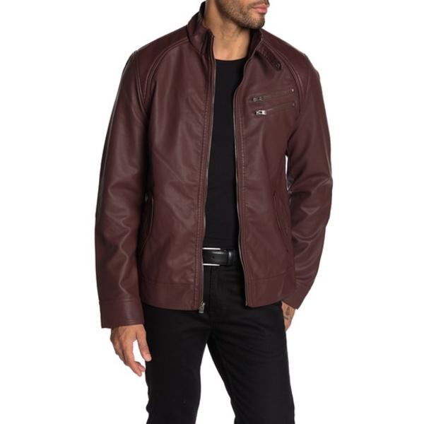 エックスレイ メンズ ジャケット&ブルゾン アウター Faux Leather Jacket BURGUNDY