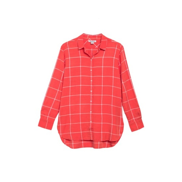 トッミーバハマ レディース シャツ トップス Vista Sol Windowpane Collared Shirt POPPY RED