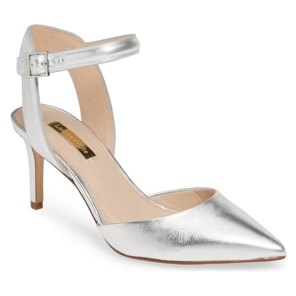 ルイスエシー レディース パンプス シューズ Louise et Cie Kota Ankle Strap Pump (Women) Sterling Metallic Leather