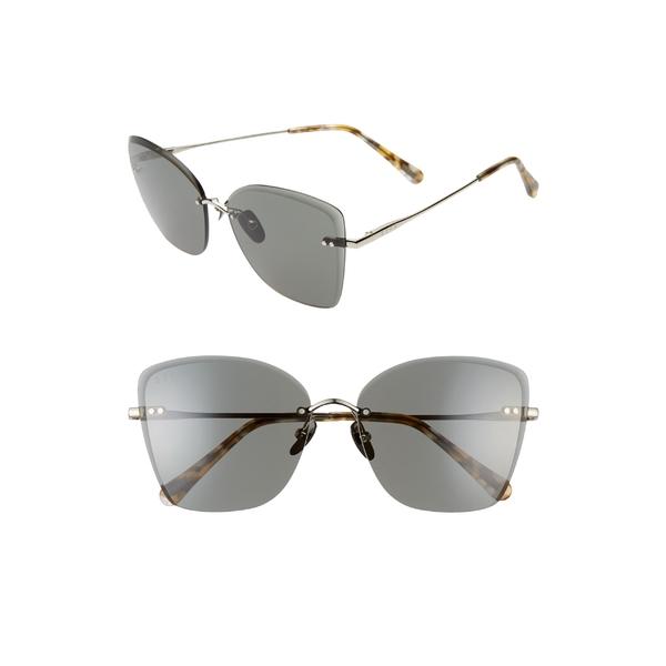 ディフ レディース アクセサリー サングラス&アイウェア Silver/ G15 全商品無料サイズ交換 ディフ レディース サングラス&アイウェア アクセサリー DIFF Willow 61mm Rimless Butterfly Sunglasses Silver/ G15