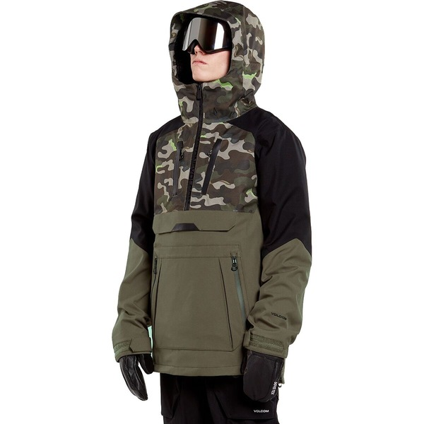 ボルコム メンズ スポーツ 正規取扱店 スノーボード 売却 Army 全商品無料サイズ交換 - Men's Hooded Jacket Brighton Pullover