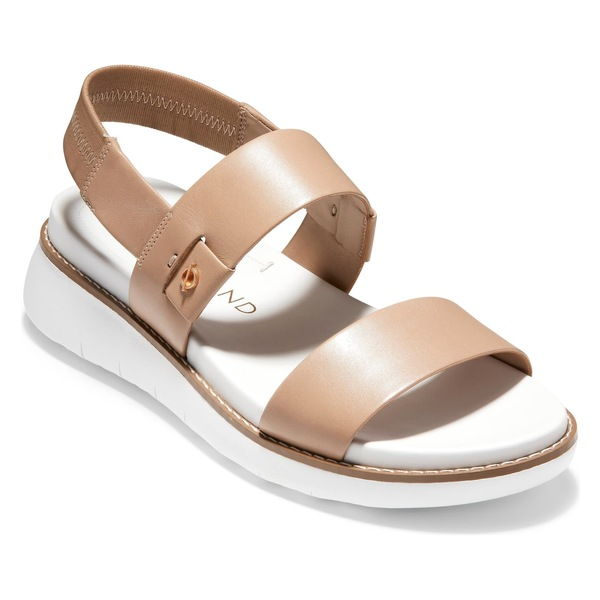 コールハーン レディース サンダル シューズ Cole Haan ZeroGrand Double Band Sandal (Women) Amphora/ Optic White Leather