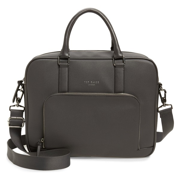 テッドベーカー メンズ ビジネス系 バッグ Ted Baker London Coulter Faux Leather Document Bag Grey