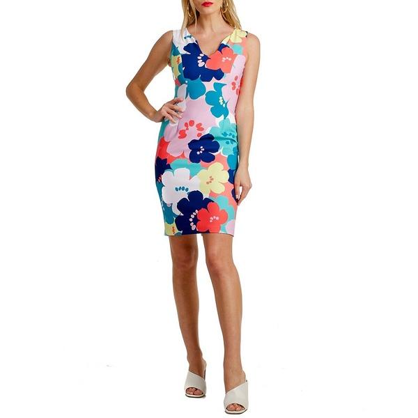 トリーナターク レディース ワンピース トップス Floral Print Sheath Dress Coral Lily