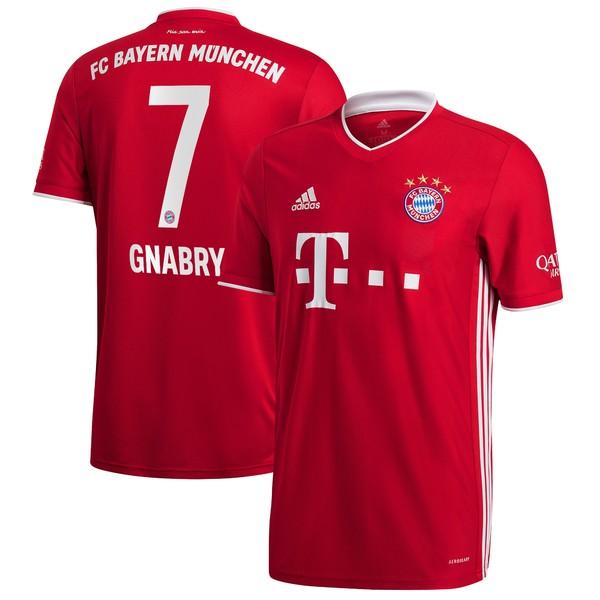 アディダス メンズ ユニフォーム トップス Serge Gnabry Bayern Munich adidas 2020/21 Home Replica Player Jersey Red