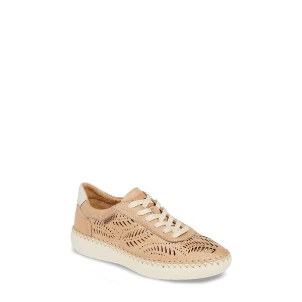 ピコリーノス レディース スニーカー シューズ Mesina Perforated Low Top Sneaker Bamboo Leather